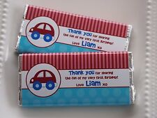 Car Personalised Chocolate Kids Birthday Party Favour MUST ORDER 20 OR MORE