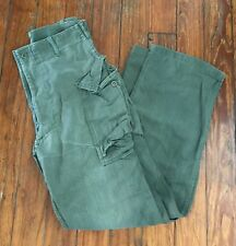 Vintage Original WWII Era HBT Cotton Cargo Pants 32x33