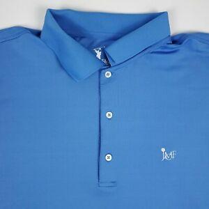 Fairway & Greene Tech Stretch Golf Blue Mens Short Sleeve Polo Shirt Size 2XL