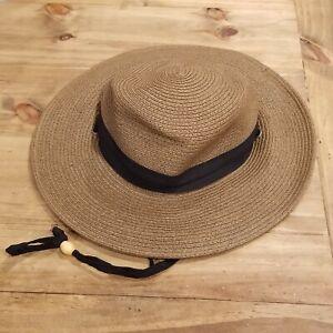 Columbia Straw Bucket Hat Womens Size S/M Sun Safari Paper Polyester