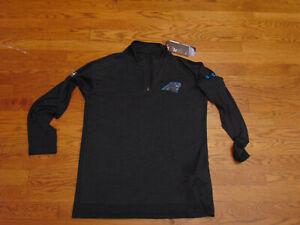 Carolina Panthers New Under Armour Ht Gr Combine Mock 1/4 Zip Lng Slv Shirt Sm