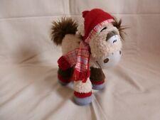 Peluche Doudou Diddl Cheval Galupy Hiver écharpe et bonnet rouge TBE 20cm