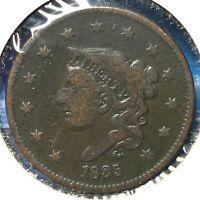 1835 1C Coronet Head Cent (60551)