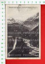 51861 CARTOLINA 1921 SONDRIO STRADALE DELLO SPLUGA TOURNIQUET E CASCATA PIANAZZO