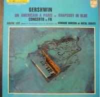 EUGENE LIST un américain a paris GERSHWIN hanson/dorati LP Philips EX++