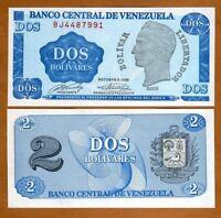 Venezuela, 2 Bolivares, 1989, P-69, UNC