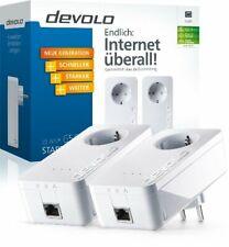 DEVOLO DLAN 650+ STARTER KIT POWERLINE SET 2 STÜCK & STECKDOSE & LAN-Kabel