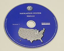 2004 VW VOLKSWAGEN TOUAREG NAVIGATION MAP DISC CD 5 MIDWEST MI WI IL IN