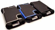 3X for Motorola atrix 4g mb860 rugged case 3 layer blue black gray whole sale