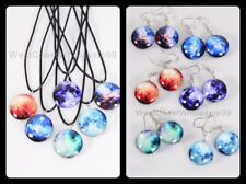 12 PC Galaxy Double Sided Glass Fashion Necklace/Earrings Wholesale Jewelry USA