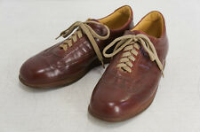 Authentic BURBERRY Men's Lace-up Shoes Brown 24.5cm Leather Free Ship 931v03