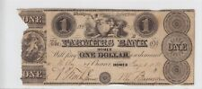 1838 Farmers Bank of Homer $1 Note Rare Michigan Obsolete Note!