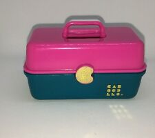Toy Biz Vintage Mini Caboodles Pink Green Vintage 1984 Fits Barbie Makeup Case