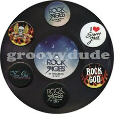 Rock Of Ages 6 Pinback Buttons Promo Paper Album Tom Cruise Movie Stacee Pin Lot