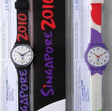 Swatch Singapore 2010 Olympic Youth Games GZ223 Power Position GZ224 Climb Top