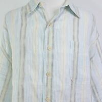 TOMMY BAHAMA LONG SLEEVE STRIPED LINEN BUTTON DOWN SHIRT MENS SIZE 3XB