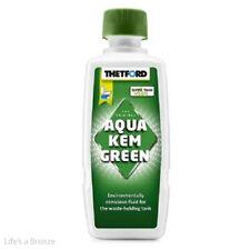 Aqua kem green 375 ML. SERBATOIO THETFORD DETERGENTE. Camper caravan Wc chimici utilizzati.