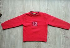 Pull  laine col rond rouge BEANY  taille 2 ans, tbe !