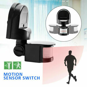 110-240V Outdoor 180° Security PIR Motion Movement Sensor Detector Switch Light