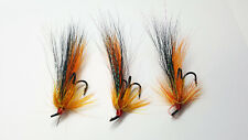 3 X BLACK BEAR FLAME THROWER SALMON FLIES TREBLE HOOK SIZES 8, 10,12  available