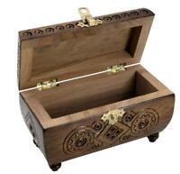 Wooden Hand Carved Trinket Jewelry Box Organizer Storage Chest Casket Rings Case