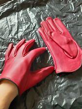 ROT Gr. L Lamm NAPPA Lederhandschuh Fetisch GAY Leder Cop Gloves Bluf Handschuh