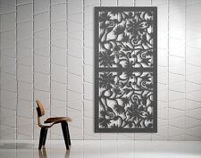Laser Cut Metal Decorative Screen 'Floral Garden' Mild Steel - 1200 x 600