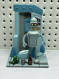 MAC Futurama Bender robot Action Figure Fox 2000 Suicide Booth RARE TO FIND!