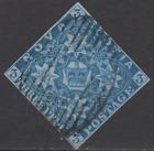 Nova Scotia QV 1851 Used 3d Deep Blue SG3 Cat 150  4 MARGINS