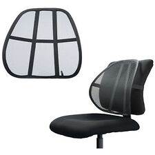Universal Mesh Back Support Rest Lumbar Home Office Chair Seat Mesh Fabric Black