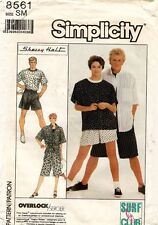 1980's Vtg Simplicity Misses'/Men's Pants,Shorts,Shirt,Top Pattern 8561 Sm Unc