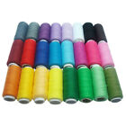 24 Sewing All Purpose 100% Pure Cotton Thread Spools 24 Colours
