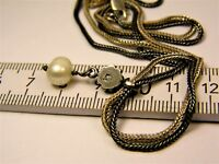 Old vintage retro Sterling Silver 925 double chain necklace with pendant 161s