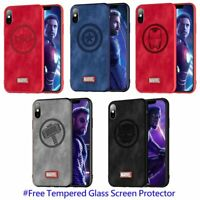 MARVEL Avengers Denim Case Thor Ironman Captain Spiderman iPhone X XS MAX XR S