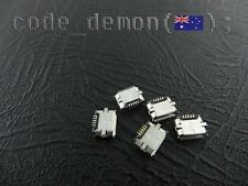 SMD Micro USB Type B Female Socket 180 Degree 5-Pin (x5)