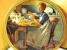 Norman Rockwell Collector Plate Working in the Kitchen Edwin Knowles 1983