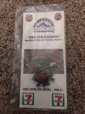 Colorado Rockies 1994 Lapel Pin Series #1 Final Season Mile High Stadium