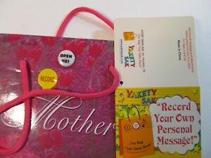 Mothers Day Gift Bag YAKETY SAK Personalize with Your Recorded Message Add Gift