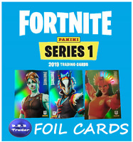 PANINI FORTNITE Genuine Trading Cards RARE EPIC LEGENDARY FOIL cards YOU CHOOSE