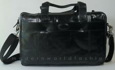 Fossil Vintage Leather Top Zip Black Work Bag MBG1244001 NWT $188.00