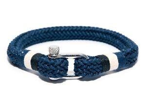 Frank 1967 Binding Ropes Maritim Shackle Men's Bracelet Blue B0144