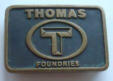 Vintage Belt Buckle Thomas Foundries Anacortes Brass Work WA Hand Made Vtg