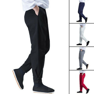 Tai Chi Martial Arts Trousers Kung Fu Wing Chun Pants Casual Pants Ankle-Tied
