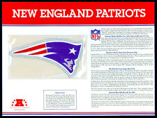 NEW ENGLAND PATRIOTS  NFL TEAM EMBLEM PATCH COLLECTION STAT CARD Willabee & Ward