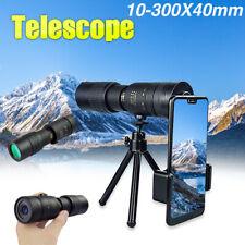 4K 10-300X40mm Super Telephoto Zoom Monocular Telescope for Beach Travel Hunting