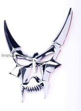 Horned Skull Emblem Chromlogo Klebeschild für Daewoo Daihatsu Dodge Ferrari Fiat