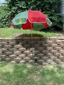 Vintage Lawry's Seasoning Salt Umbrella Outdoor Patio Beach Advertising Canopy