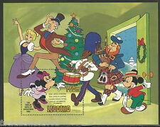 "Walt disney lesotho MINR. 410 ** minnie mouse ""The Twelve Days of Xmas"" bloque 16"