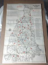 Vintage Original 1935-36 New Hampshire Winter Ski Map Poster