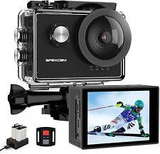 Apexcam Pro Action Cam 4K 60fps WiFi 20MP Unterwasserkamera 40M Wasserdicht 8xZo